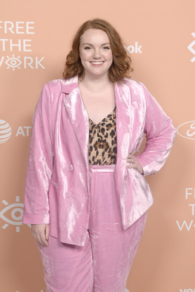Free The Work Launch [clothing,pink,outerwear,fashion,pajamas,jacket,blazer,suit,formal wear,fashion design,shannon purser,neuehouse hollywood,los angeles,california,the work launch]