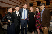 (L-R) Tess Sanchez, Host Max Greenfield, Honoree Nick Grad the President, Origional Programing for FX Networks and FX Productions, Honoree Carolyn Bernstein the Executive VP and Head of Global Scripted Development and Production, National Geographic, Actress Rachael Beame, and Comedian/Writer Demetri Martin attend the Sharewell/Zimmer Children's Museum Discovery Award Dinner at Skirball Cultural Center on November 15, 2017 in Los Angeles, California.