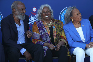 Sharon Robinson Los Angeles Dodgers Unveil Jackie Robinson Statue