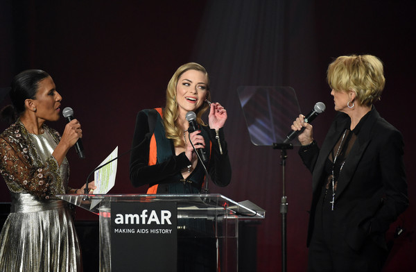 amfAR's Inspiration Gala Los Angeles - Show [entertainment,performance,event,singing,music,music artist,song,performing arts,singer,musician,chairman,actors,jaime king,andrea fiuczynski,l-r,los angeles,amfar,sotheby,inspiration gala,show]