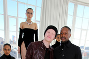 Shaun Ross, LaQuan Smith and models pose during SheaMoisture at Laquan Smith F/W 2016 NYFW at Jack Studios on February 14, 2016 in New York City.