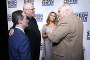 Interim Executive Director of the Sheen Center, David Dicero, Cardinal Timothy Dolan, Vanessa Williams and Steve Columbia attend Sheen Center presents Vanessa Williams & Friends: thankful for Christmas with guests Norm Lewis, Michael Urie, and Bernie Williams at Sheen Center for Thought & Culture on November 18, 2019 in New York City.