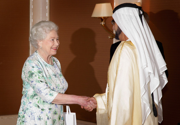 Sheikh Mohammed bin Rashid Al Maktoum Queen Elizabeth II meets Sheikh Mohammed bin Rashid al-Maktoum Ruler of Dubai and Prime Minster of the UAE at Emirates Palace on November 25, 2010 in Abu Dhabi, United Arab Emirates. Queen Elizabeth II and Prince Philip, Duke of Edinburgh are in Abu Dhabi on a State Visit to the Middle East. The Royal couple will spend two days in Abu Dhabi and three days in Oman.