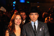 Robert Downey Jnr and wife Susan attend the World Premiere of Sherlock Holmes at Empire Leicester Square on December 14, 2009 in London, England.