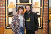 Mary Elizabeth Ellis (L) and Charlie Day attend Shinola, Scott Campbell and Nathan Kostechko Mother's Day Celebration on May 12, 2018 in Los Angeles, California.