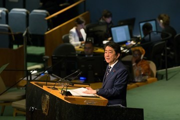 Shinzo Abe World Leaders Address Annual United Nations General Assembly