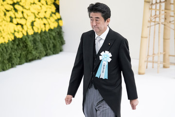 Shinzo Abe Japan Marks 74 Years After The Surrender Of World War II