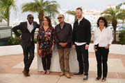(L-R) Directors Mahamat Saleh Haroun, Noemie Lvovsky, Abbas Kiarostami, Joachim Trier and Daniela Thomas attend the Short Films Jury photocall during the 67th Annual Cannes Film Festival on May 22, 2014 in Cannes, France.