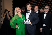 Award winner Henry Cavill and host Barbara Schoeneberger seen on stage during the GQ Men of the Year Award show at Komische Oper on November 08, 2018 in Berlin, Germany.
