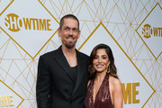 Steve Howey and Sarah Shahi attend the Showtime Emmy Eve Nominees Celebrations at San Vincente Bungalows on September 21, 2019 in West Hollywood, California.