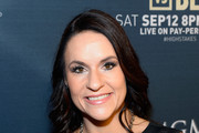 Intern Coach Jen Welter with the Arizona Cardinals arrives at the VIP Pre-Fight Party for 'High Stakes: Mayweather v. Berto' presented by Showtime at the MGM Grand Garden Arena on September 12, 2015 in Las Vegas, Nevada.