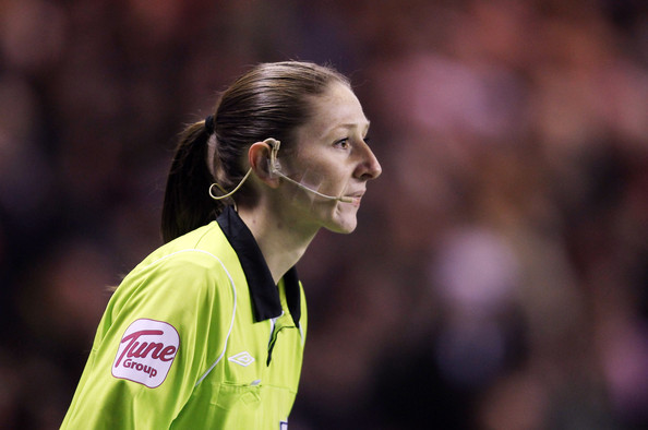 Sian Massey Assistant Referee Sian Massey during the Barclays Premier League