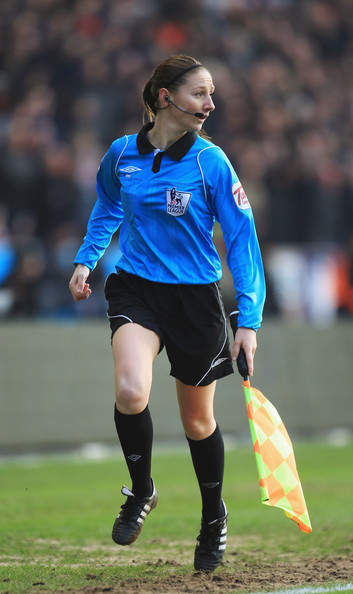 Sian Massey Female assistant referee Sian Massey in action during the