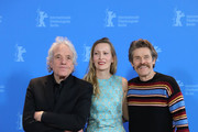 "(L-R) Director Abel Ferrara, Dounia Sichov and Willem Dafoe pose at the ""Siberia"" photo call during the 70th Berlinale International Film Festival Berlin at Grand Hyatt Hotel on February 24, 2020 in Berlin, Germany."