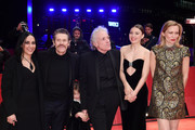 "(L-R) Giada Colagrande, Willem Dafoe, director Abel Ferrara, Cristina Chiriac and Dounia Sichov pose at the ""Siberia"" premiere during the 70th Berlinale International Film Festival Berlin at Berlinale Palace on February 24, 2020 in Berlin, Germany."