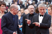 """Christoph Waltz and Bruno Delbonnel attend the screening of """"Sibyl"""" during the 72nd annual Cannes Film Festival on May 24, 2019 in Cannes, France."""
