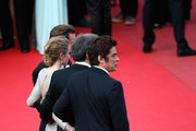 "(L-R)  Actors Josh Brolin and Emily Blunt, director Denis Villeneuve and actor Benicio Del Toro attend the ""Sicario"" premiere during the 68th annual Cannes Film Festival on May 19, 2015 in Cannes, France."