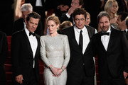 "Actors Josh Brolin, Emily Blunt and Benicio Del Toro and director Denis Villeneuve leave the Premiere of ""Sicario"" during the 68th annual Cannes Film Festival on May 19, 2015 in Cannes, France."