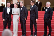 "Actors Josh Brolin, Emily Blunt, director Denis Villeneuve, actor Benicio Del Toro and Gerenal Delegate Thierry Fremaux attend the Premiere of ""Sicario"" during the 68th annual Cannes Film Festival on May 19, 2015 in Cannes, France."