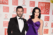 (L-R) Alexis Mabille and Dita Von Teese attend the Sidaction Gala Dinner 2015 at Pavillon d'Armenonville on January 29, 2015 in Paris, France.