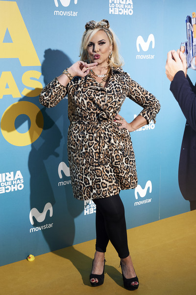 'Mira Lo Que Has Hecho' Second Season Premiere In Madrid [premiere,yellow,carpet,fashion,footwear,red carpet,flooring,dress,electric blue,event,silvia superstar,second,capitol,february 21,mira lo que has hecho second season premiere in madrid,madrid,spain]
