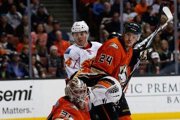 Simon Despres Calgary Flames v Anaheim Ducks