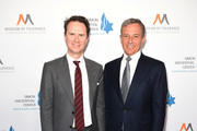 Peter Rice and Bob Iger attend Simon Wiesenthal Center's 2019 National Tribute Dinner at The Beverly Hilton Hotel on April 10, 2019 in Beverly Hills, California.
