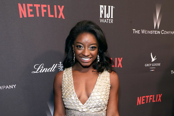 Simone Biles The Weinstein Company and Netflix Golden Globes Party Presented With FIJI Water