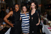 June Ambrose, Sarah Boyd Founder and CEO of Simply Stylist and Madison Guest attend Simply Stylist 'Do What You Love' Fashion & Beauty Conference VIP Dinner with Dove Dry Spray at Saxon + Parole on October 24, 2015 in New York City.