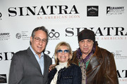"Max Weinberg, Nancy Sinatra and Steven Van Zandt attend Jack Daniel's Sinatra Select celebration of the Grammy Museum's ""Sinatra: An American Icon"" at The New York Public Library of Performing Arts on March 3, 2015 in New York City."