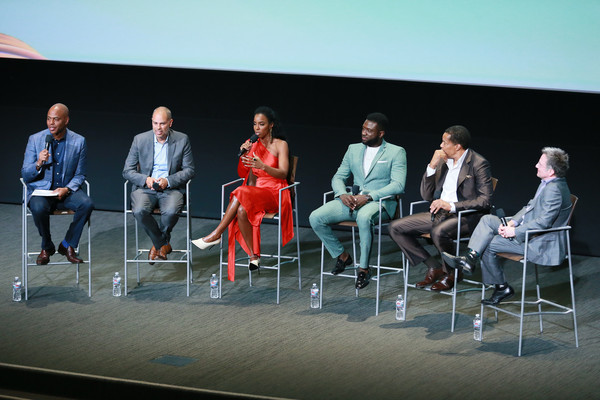 "BET's ""American Soul"" Emmy FYC Screening Event [event,performance,design,technology,table,stage,heater,performing arts,furniture,convention,audience,kevin frazier,tony cornelius,jonathan prince,sinqua walls,kelly rowland,jesse collins,north hollywood,bet,american soul emmy fyc screening event]"