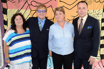 Jeanne White-Ginder Sir Elton John Visits The AIDS Memorial Quilt