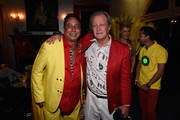 "Sir Ivan (L) and Patrick McMullan attend Sir Ivan's celebration of his new hit single ""Here Comes the Sun"" at his castle in the Hamptons on August 23, 2014 in Water Mill, New York."