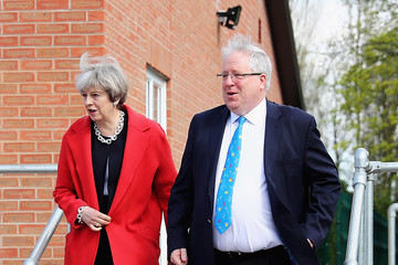 Sir Patrick McLoughlin Theresa May Launches the Conservative Party Local Election Campaign