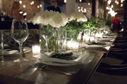 A general view of a table during the Sir Philip Green Hosts Dinner In Celebration Of Topshop Topman Miami Store Opening at Cecconi's at Soho Beach House on November 18, 2017 in Miami Beach, Florida.
