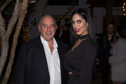 Sir Philip Green and Deyvanshi Masrani attend Sir Philip Green Hosts Dinner In Celebration Of Topshop Topman Miami Store Opening at Cecconi's at Soho Beach House on November 18, 2017 in Miami Beach, Florida.