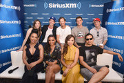 Danielle Panabaker, Grant Gustin, Tom Cavanagh, Hartley Sawyer, Todd Helbing, Candice Patton, Danielle Nicolet, Jessica Parker Kennedy and Carlos Valdes attend SiriusXM's Entertainment Weekly Radio Broadcasts Live From Comic Con in San Diego at Hard Rock Hotel San Diego on July 20, 2018 in San Diego, California.