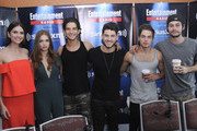 Actors Shelley Hennig, Holland Roden, Tyler Posey, Cody Saintgnue, Dylan O'Brien and Dylan Sprayberry  attend SiriusXM's Entertainment Weekly Radio Channel Broadcasts From Comic-Con 2015 at Hard Rock Hotel San Diego on July 9, 2015 in San Diego, California.
