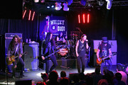 (L-R) Frank Sidoris, Todd Kerns, Brent Fitz, Myles Kennedy and Slash perform onstage at SiriusXM Presents Slash Ft. Myles Kennedy and The Conspirators at Whisky a Go Go on September 11, 2018 in West Hollywood, California.