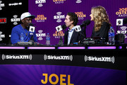 (L-R) (L-R) Martial artist Billy Blanks SiriusXM host Joel Osteen and SiriusXM host Victoria Osteen speak onstage during day 3 of SiriusXM at Super Bowl LIV on January 31, 2020 in Miami, Florida.
