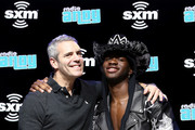 SiriusXM host Andy Cohen and artist Lil Nas X attend day 3 of SiriusXM at Super Bowl LIV on January 31, 2020 in Miami, Florida.