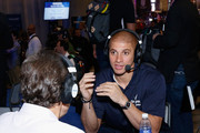 New Orleans Saints tight end Jimmy Graham attends SiriusXM at Super Bowl XLIX Radio Row at the Phoenix Convention Center on January 30, 2015 in Phoenix, Arizona.