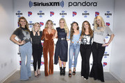 Jennifer Wayne, Madison Marlow, Carrie Underwood, Jenny McCarthy, Taylor Dye, Naomi Cooke and Hannah Mulholland attend SiriusXM's Town Hall With Carrie Underwood Hosted By SiriusXM's Jenny McCarthy At The SiriusXM Studios on September 11, 2019 in Los Angeles, California.