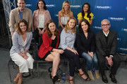 (Front Row) Taylor Louderman, Erika Henningsen, Nell Benjamin, Tina Fey, Jess Cagle (Back Row) Grey Hensen, Barret Wilburt Weed, Kate Rockwell and Ashley Park take part in SiriusXM's Town Hall with the cast and creatives of 'Mean Girls' on Broadway hosted byÊEditorial Director at PEOPLE and EW Jess Cagle at SiriusXM Studios on May 8, 2018 in New York City.