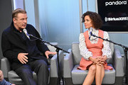 """(L-R) Actors Alec Baldwin and Gugu Mbatha-Raw attend SiriusXM's Town Hall with the cast of """"Motherless Brooklyn"""" on October 21, 2019 in New York City."""