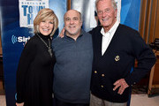 (L-R) Debby Boone, Lou Simon and Pat Boone attend SiriusXM's Town Hall with Pat Boone at Capitol Records Tower on November 22, 2016 in Los Angeles, California.