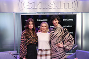 (L-R) Idina Menzel , Kristen Bell and Jessica Shaw visit SiriusXM's Town Hall at SiriusXM Studios on November 13, 2019 in New York City.