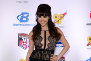 Model Claire Sinclair arrives at the sixth annual Fighters Only World Mixed Martial Arts Awards at The Palazzo Las Vegas on February 7, 2014 in Las Vegas, Nevada.