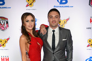 UFC Octagon Girl and model Brittney Palmer (L) and her fiance Aaron Zalewski arrive at the sixth annual Fighters Only World Mixed Martial Arts Awards at The Palazzo Las Vegas on February 7, 2014 in Las Vegas, Nevada.