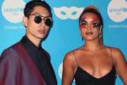 Lucas Goodman (L) and Jillian Hervey of Lion Babe attend the Sixth Annual UNICEF Masquerade Ball at Clifton's Republic on October 25, 2018 in Los Angeles, California.